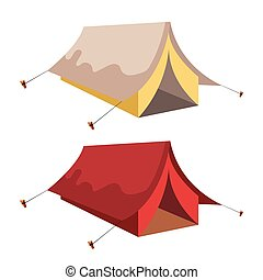 Tent vector illustration isolated on white background