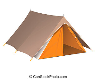 Vector illustration of a tent