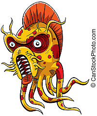 Tentacle Monster - A strange alien monster with tentacles.