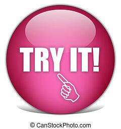 tentar, botão, aquilo
