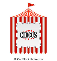 tente, affiche, cirque, fond