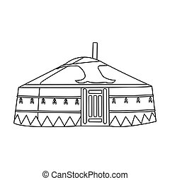 tent.housing, ρυθμός , αρχαίος , περίγραμμα , patterns.mongolian, σύμβολο , mongols.mongolia, τέντα , μονό , μικροβιοφορέας , μογγολικός , εικόνα , στοκ , illustration.