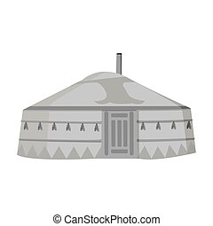 tent.housing, ρυθμός , αρχαίος , illustration., patterns.mongolian, σύμβολο , mongols.mongolia, τέντα , μονό , μικροβιοφορέας , μογγολικός , μονόχρωμος , στοκ , εικόνα