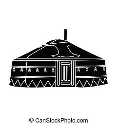 tent.housing, ρυθμός , αρχαίος , illustration., patterns.mongolian, σύμβολο , mongols.mongolia, τέντα , μονό , μικροβιοφορέας , μαύρο , μογγολικός , στοκ , εικόνα