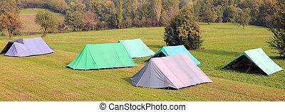 tentjes, kamperen, velen, groot