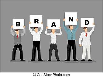 tenue, arrière-plan., marque, blanc, affaires gens, planche, cartes, gris, titre, illustration