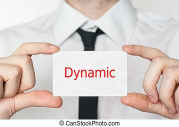 tenue, business, homme affaires, carte, dynamic.