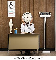 tenue, clock., docteur