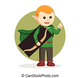 tenue, elfe, arc, conception, illustration