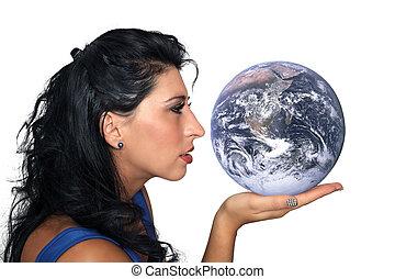 tenue femme, la terre, beau