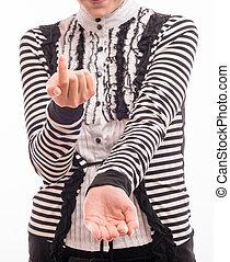 tenue femme, mains