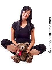tenue femme, ours, teddy