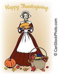 tenue femme, traditionnel, turquie, plateau, déguisement