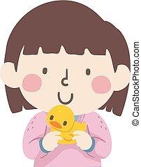 tenue, illustration, caoutchouc, girl, gosse, duckie