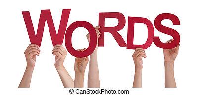 tenue, mots, mains