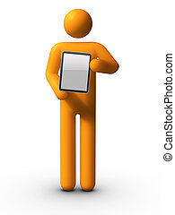 tenue, pc tablette