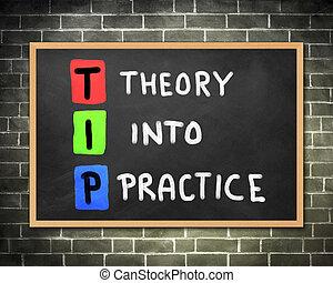 teoria, in, pratica