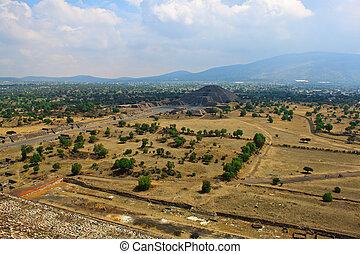 teotihuaca, 月, 光景, ピラミッド