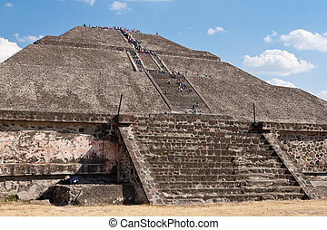 teotihuacan, pyramide, sun., mexique