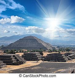 teotihuacan, pyramides