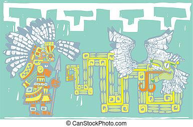 Teotihuacan Warrior and Kukulkan - Teotihuacan Warrior in ...