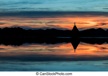 Tepee Lake Reflection