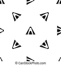 Tepee pattern seamless black