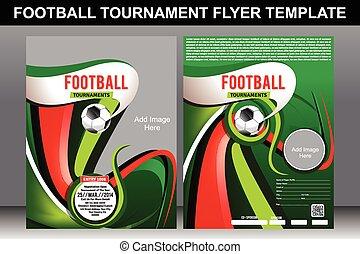tepmplate, フットボール, トーナメント, フライヤ
