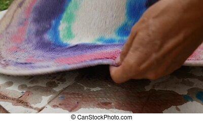 teppich, handgearbeitet, färben