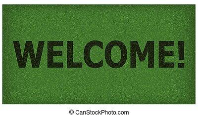 teppich, herzlich willkommen