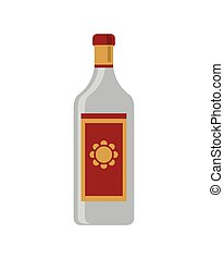 tequila, bottiglia, icona