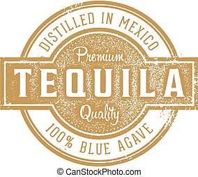 Tequila Cocktail Rubber Stamp