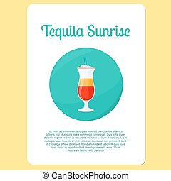 Tequila Sunrise cocktail icon