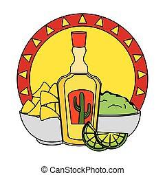 tequila with nachos and guacamole cinco de mayo celebration ...