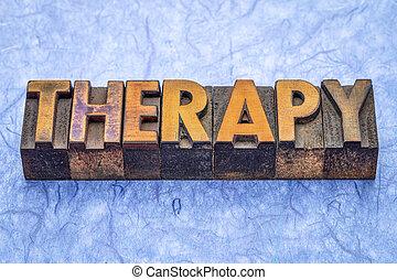 terápia, gépel, erdő, szó