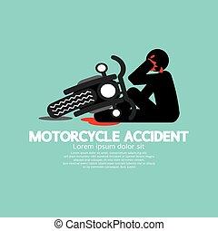 ter, motocicleta, accident.