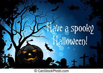 ter, um, spooky, dia das bruxas