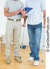 terapeut, og, disabled, patient, hos, rapporter