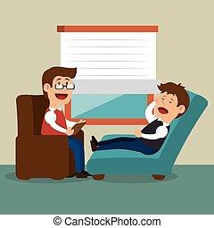 terapeuta, problem, sesja, mentalny, człowiek