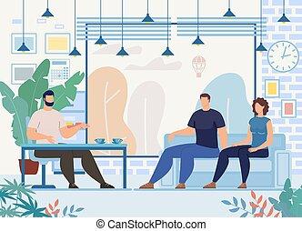 terapia, concetto, famiglia, vettore, relazioni, problemi