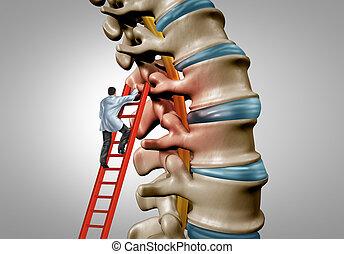 terapia, espina dorsal