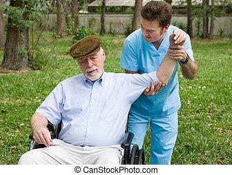 terapia física, ao ar livre