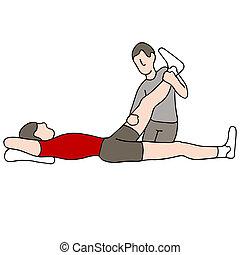 terapia, físico