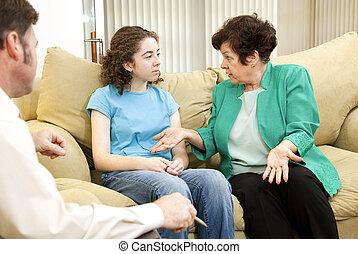 terapia, famiglia