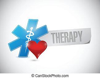 terapia, médico, desenho, ilustração