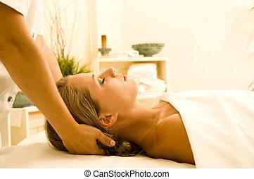 terapia, massagem