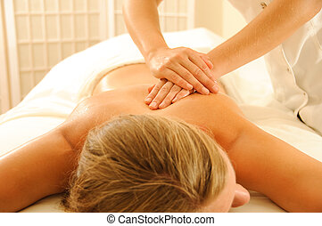 terapia, massagem