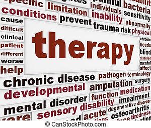 terapia, medico, creativo, fondo