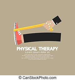 terapia, vector., fisico