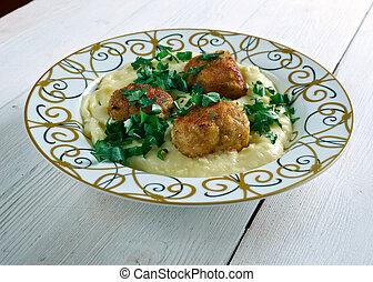 Turkish meatballs with sauce